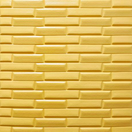 Самоклеющаяся 3D панель желто-песочная кладка 700x770x7мм