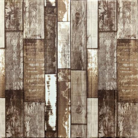 Самоклеющаяся декоративная 3D панель коричневое дерево