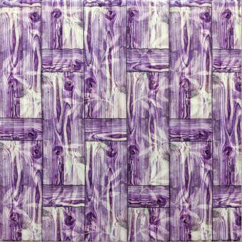 Самоклеющаяся 3D панель бамбуковая кладка фиолет 700x700x8мм