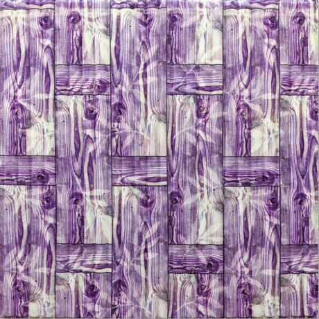 Самоклейка 3D панель бамбукова кладка фіолет 700x700x8,5мм
