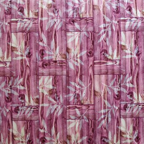 Самоклейка 3D панель бамбукова кладка рожева 700x700x8мм