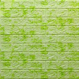 Самоклеющаяся 3D панель под салатовый мрамор 700x770x5мм (64)
