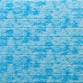 Самоклеющаяся 3D панель под голубой мрамор 700x770x5мм