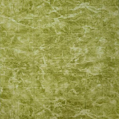 Самоклеющаяся декоративная 3D панель мрамор оливковый