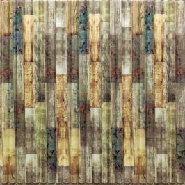 Самоклеющаяся 3D панель бамбук микс 700x700x8,5мм (73)