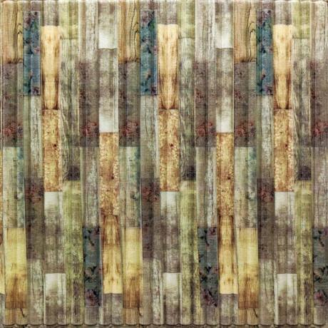 Самоклеющаяся декоративная 3D панель бамбук микс