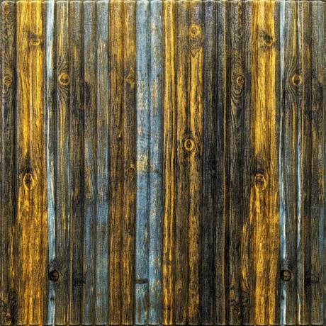 Самоклейка 3D панель бамбук сіро-коричневий 700x700x8мм