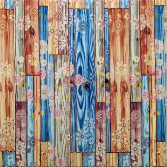 Самоклеющаяся 3D панель бамбук цветы 700x700x8мм